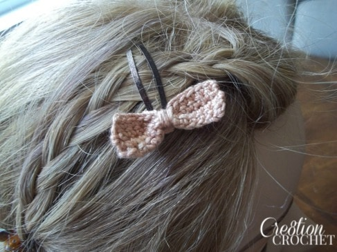 Small Bow Barrette Pattern