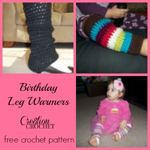 Birthday Leg Warmers