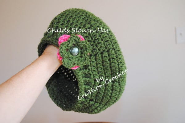 Childs Slouch Hat with Ribbed Edge