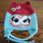 winky winky the owl free crochet hat pattern