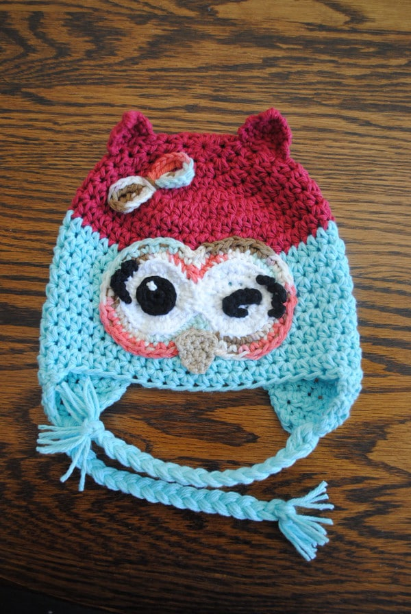 Free Crochet Owl Hat Pattern Winky Winky The Owl Simple Free Owl Hat Knitting Pattern