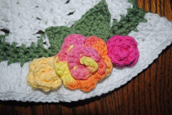 Free Crochet Easter Afghan Patterns : Easter hat rosettes - Cre8tion Crochet