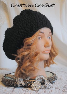 free slouch hat crochet pattern on cre8tion crochet