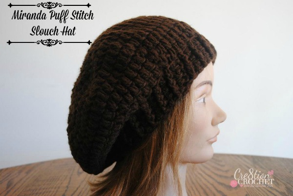 Free Crochet Adult Slouch Hat Pattern