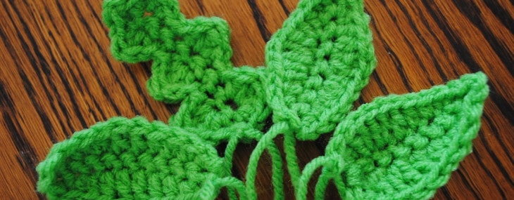 Free Crochet Spring Patterns- Leaves 101