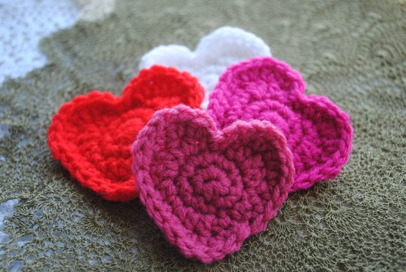 Crochet Patterns Hearts : Free Crochet Heart Pattern