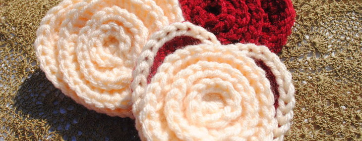 Crochet Flower in a Heart