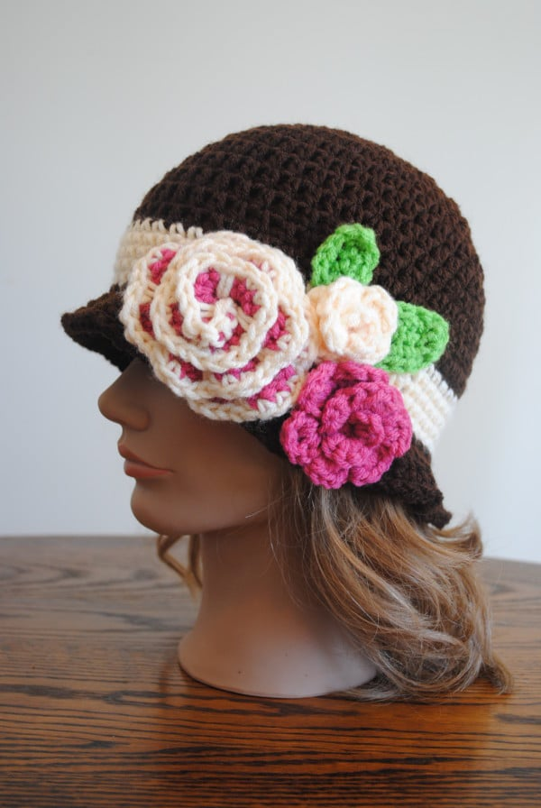 Free Spring Crochet Pattern- Red Heart Spring Blossom Cloche
