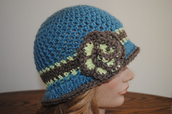 56b2584263a Free Spring Crochet Hat pattern- Beverly s Cloche in Vanna s Choice