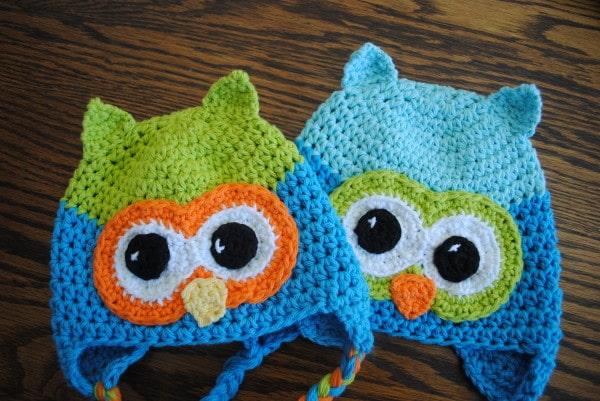 Free Crochet Owl Hat Pattern- Oh Boy Oh Boy Owl