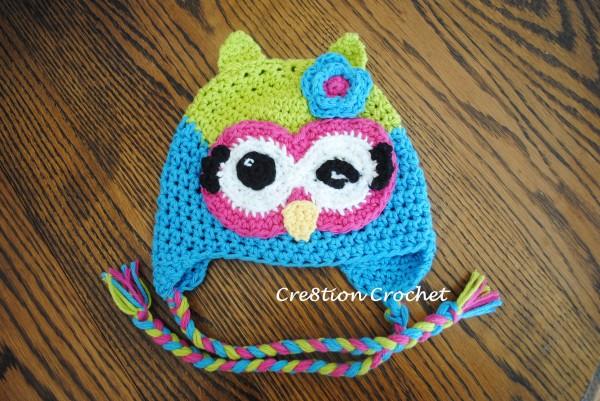 6-12mo crochet owl hat