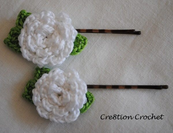Crochet Flower Pin Patterns Free : Flower Pin Free Crochet Pattern