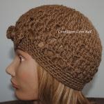 hipster hat free crochet pattern
