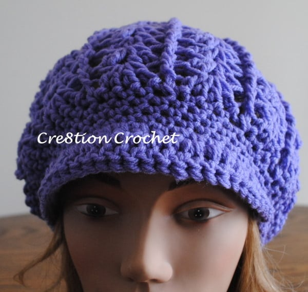 Free Crochet Pattern Slouchy Hat With Brim : Newsboy Slouch Crochet Hat