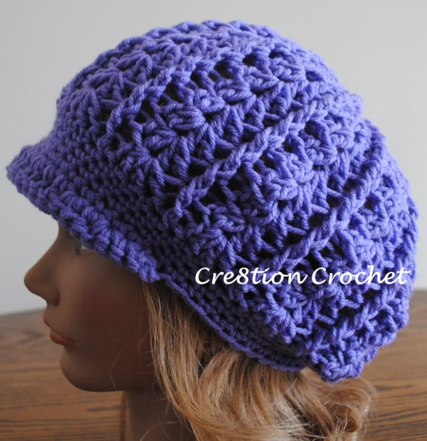 Free Crochet Pattern For Infant Newsboy Hat : Crochet Newsboy Hat Pattern Visor Hat Pattern Sizes Baby ...