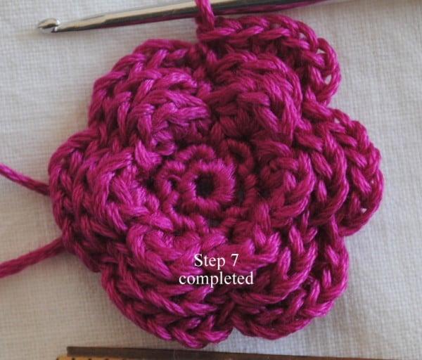 Flower Pin Free Crochet Pattern