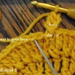 stitch details begin round 5
