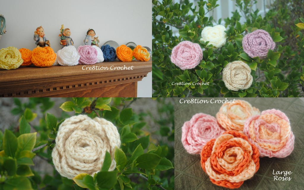 Large Crochet Rose Pattern Free : Flowers Archives - Cre8tion Crochet