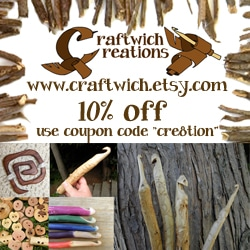 10% off Hand Carved Hooks from Craftwich Creations
