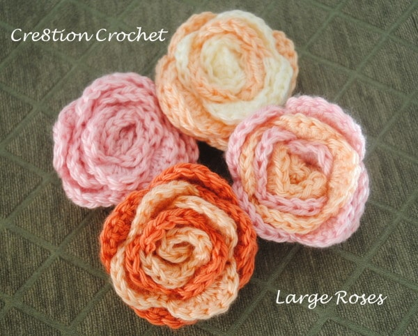 Large Roses Free Crochet Pattern - Cre8tion Crochet