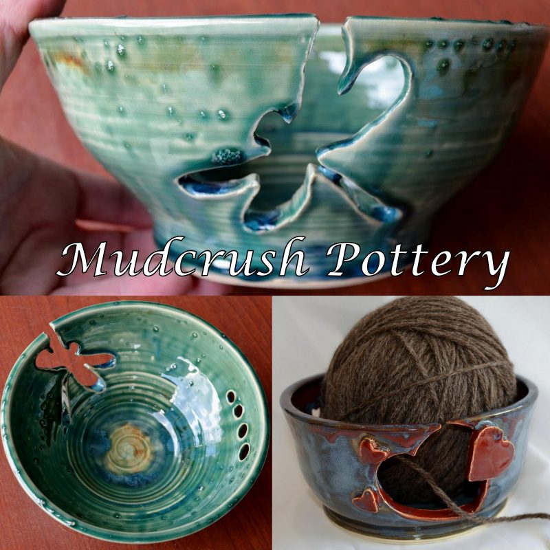 Mudcrush Pottery- Yarn Bowls and much more