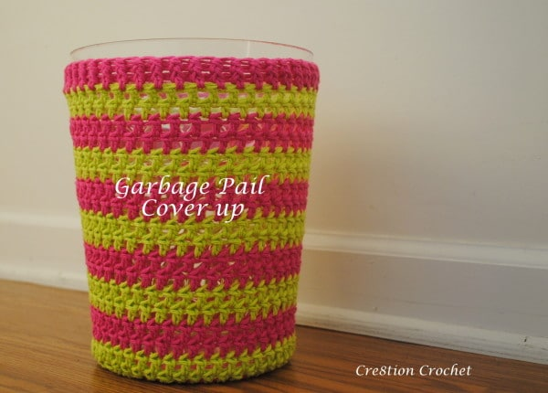 Crocheted Bathroom Garbage Pail Cover