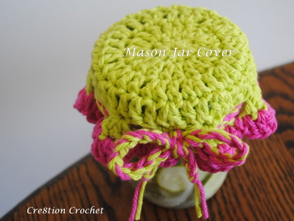 free crochet pattern for mason jar cover