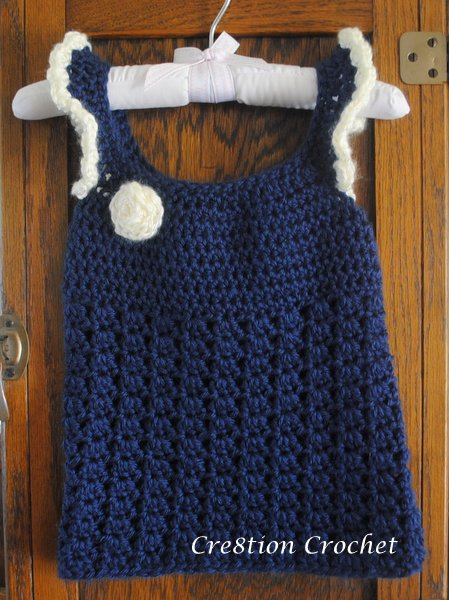 Free Crochet Toddler Tank Top Pattern : Toddler Tank Top - Cre8tion Crochet