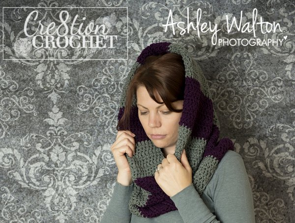 crochet bulky striped cowl free pattern