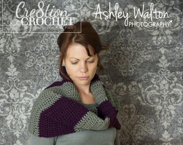free bulky striped cowl crochet pattern