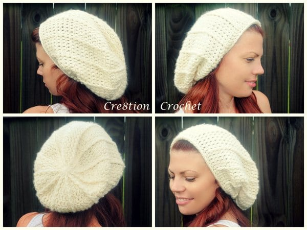 free crochet pattern super soft alexandria slouch