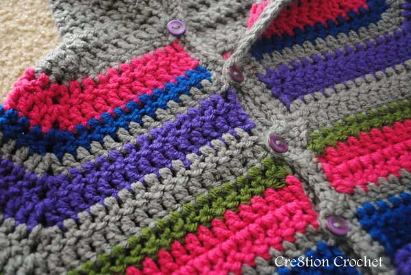 free crochet pattern striped toddler sweater