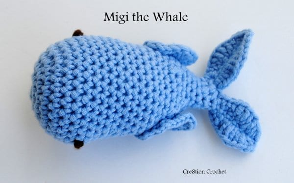 Baby Humpback Crochet Whale Free Pattern - One Dog Woof | 373x600