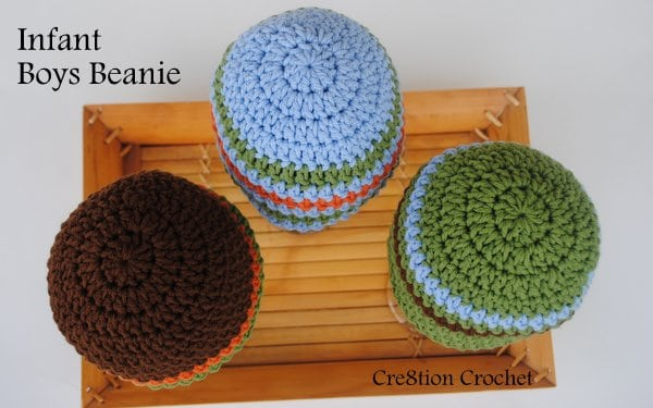 infant boys beanie free crochet pattern