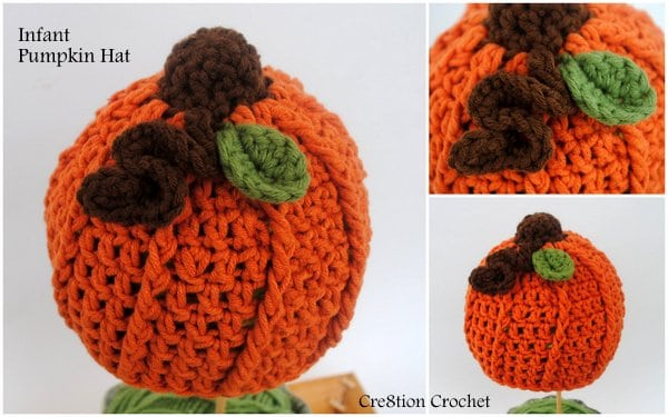 Free Pattern Crochet Pumpkin Hat : Pumpkin Hat- Infant - Cre8tion Crochet