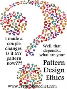 pattern design ethics- using my moral compass- this is an opinion piece and in no way is legal advice