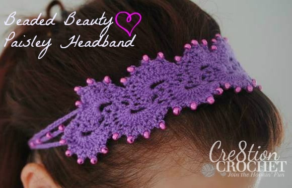 Free Crochet Stretchy Headband Pattern : Queen Annes Lace Headband - Cre8tion Crochet