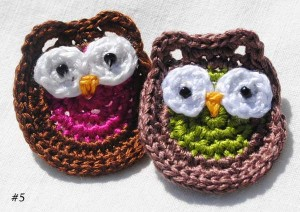 Owl Pin/ Hair Accessory Applique Free Crochet Pattern