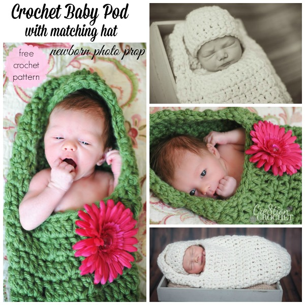 Baby pod photo prop cre8tion crochet