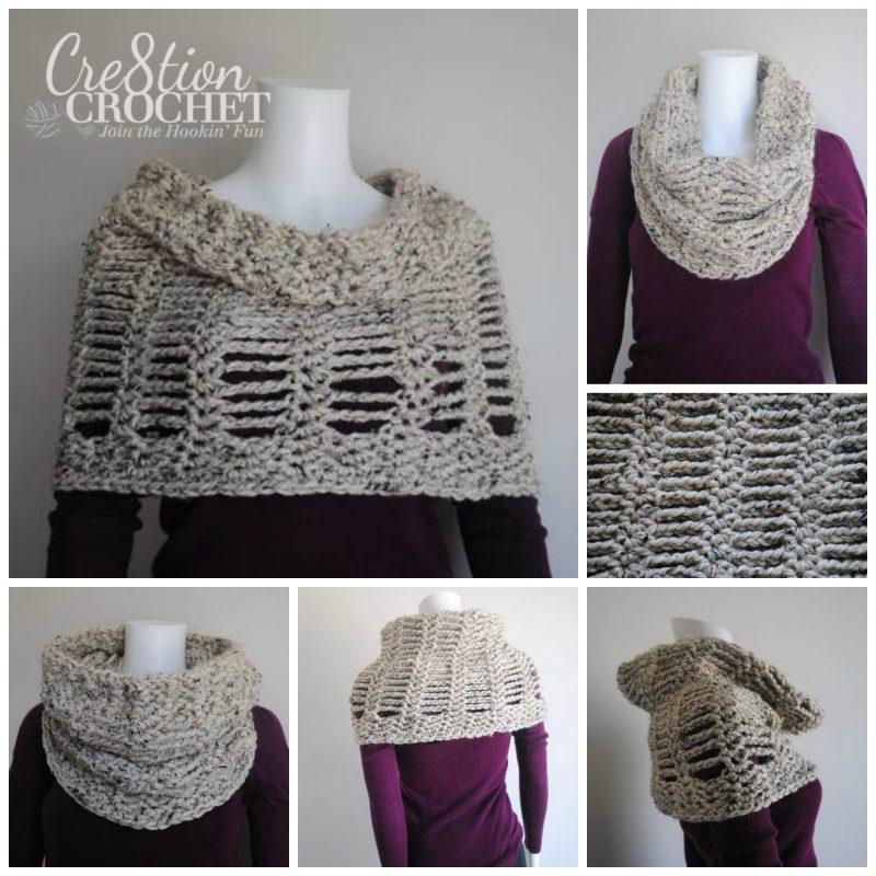 Free Crochet Convertible Cowl Pattern : Cityscape Convertible Cowl - Cre8tion Crochet