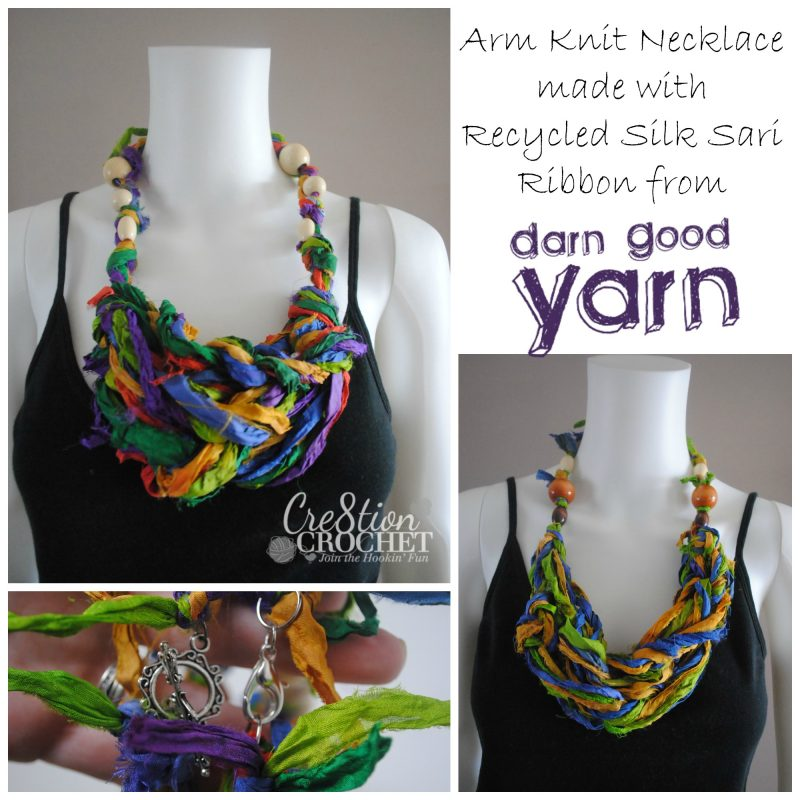 Arm Knit Necklace