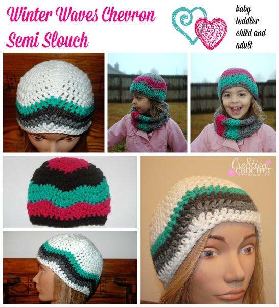 Chevron Semi Slouch Free Crochet Pattern