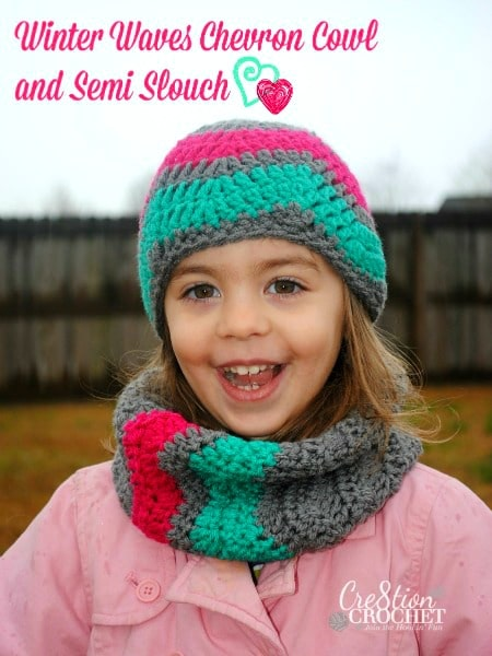 Winter Waves Chevron Cowl in Toddler Size