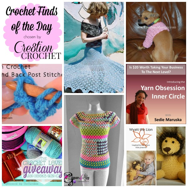 Cre8tion Crochet's Finds of the Day Monday 04/28/14