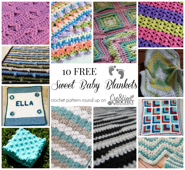 Crochet Baby Blanket Round Up - Cre8tion Crochet