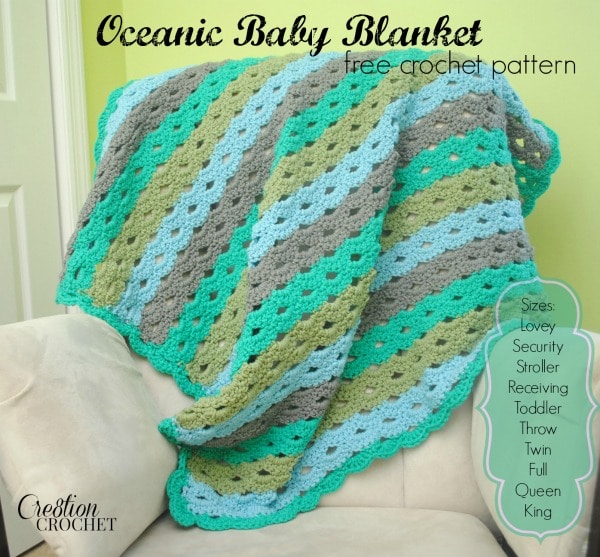 Oceanic baby blanket cre8tion crochet free crochet pattern oceanic baby blanket pattern instruction in 10 sizes cre8tioncrochet freecrochetpattern dt1010fo