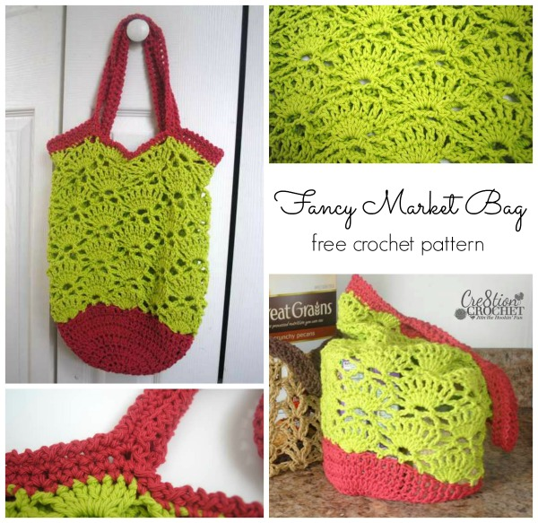 Fancy Market Bag Free Crochet Pattern Cre8tion Crochet