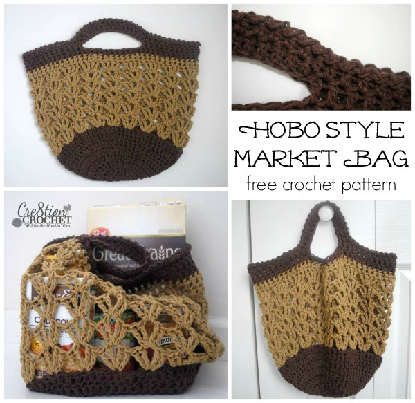 Hobo Style Market Bag Free Crochet Pattern Cre60tion Crochet Inspiration Crochet Hobo Bag Pattern
