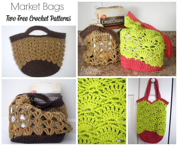 Market Bags Two Free Crochet Patterns