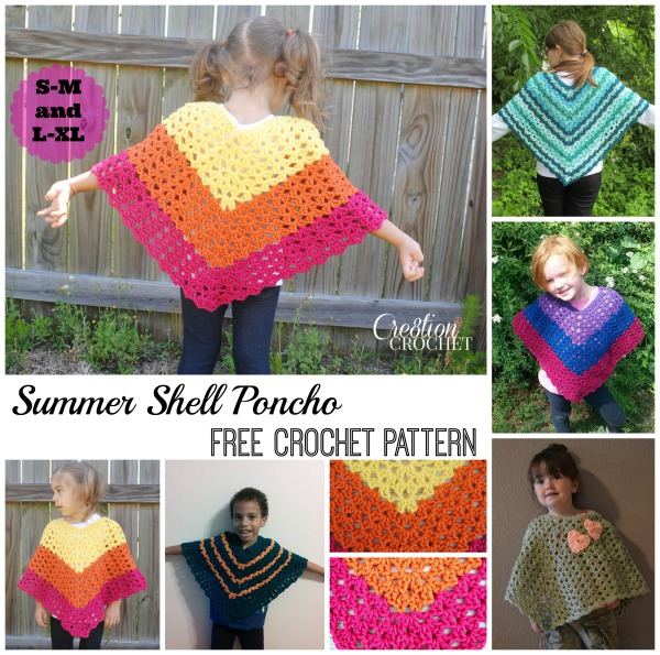 Children's Shell Poncho